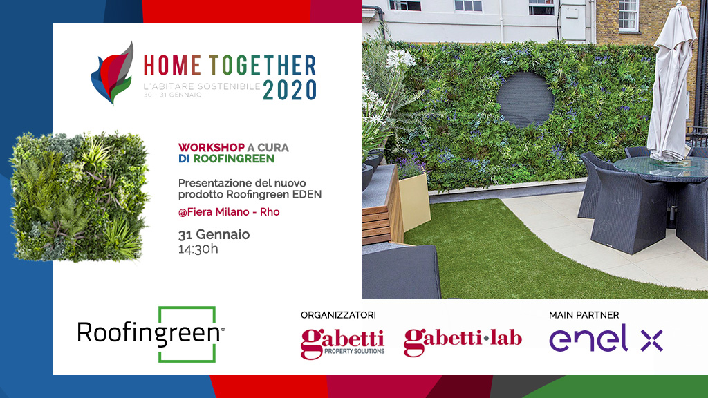 Roofingreen EDEN, il verde verticale high tech ad Home Together 2020