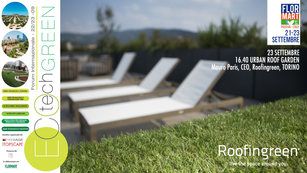 Tetti verdi e urban roof garden all'ECOtechGREEN 2016