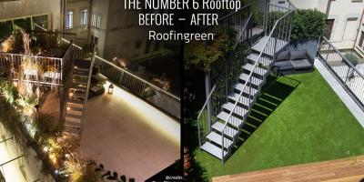 Roofinrgeen The Number 6 before and after